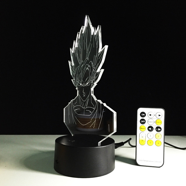 Dragon Ball Son Goku Lámpara 3D LED