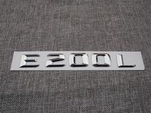 ABS Plastic Car Trunk Rear Letters Badge Emblem Decal Sticker for Mercedes Benz E Class E200L