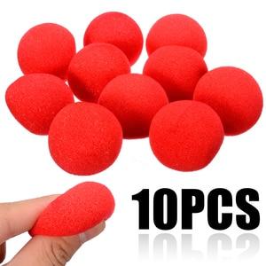 Image 2 - Boule rouge Adorable boule rouge en éponge Super douce pour fête magique, pour tour de scène, accessoire nez Clown 10 pièces 4.5cm