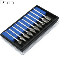 High Quality 10pcs Set Solid Carbide Burrs Kits Die Grinder Carving Bit For Dremel Rotary Tools