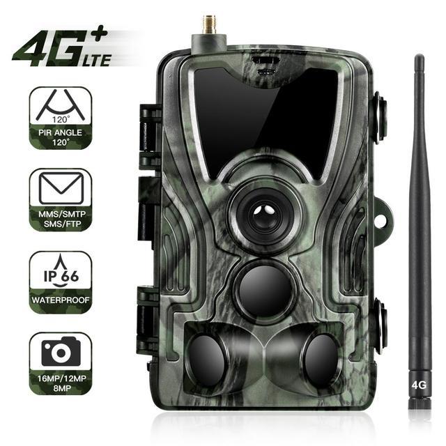 Suntekcam HC-801LTE 4G Hunting Camera 16MP Infrared Camera MMS/SMTP Photo Trap 0.3s Trigger Time 940nm LED Wild Camera PhotoTrap 1