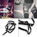 Кусок Harajuku Гот Панк Сексуальные Женщины Подвязки Круговая Эластичная Колено Ноги Подвязки Для Чулок Белье