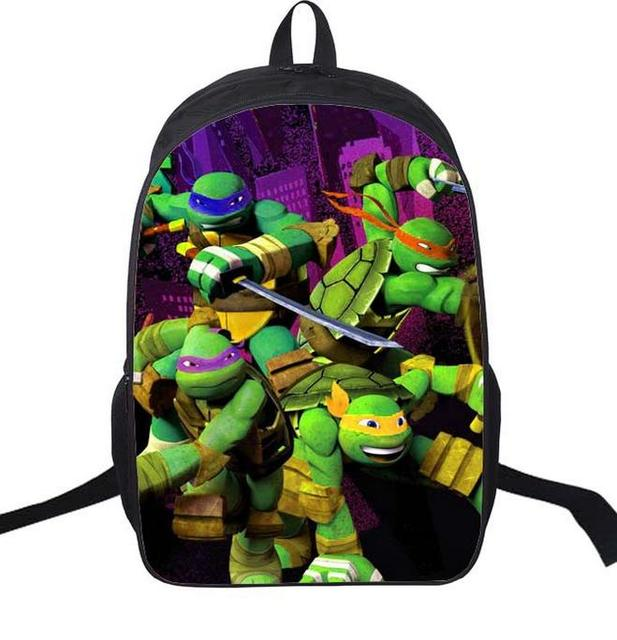 16 pouce anime teenage mutant ninja turtles nylon sac dos sac dcole de - Cartable Tortue Ninja