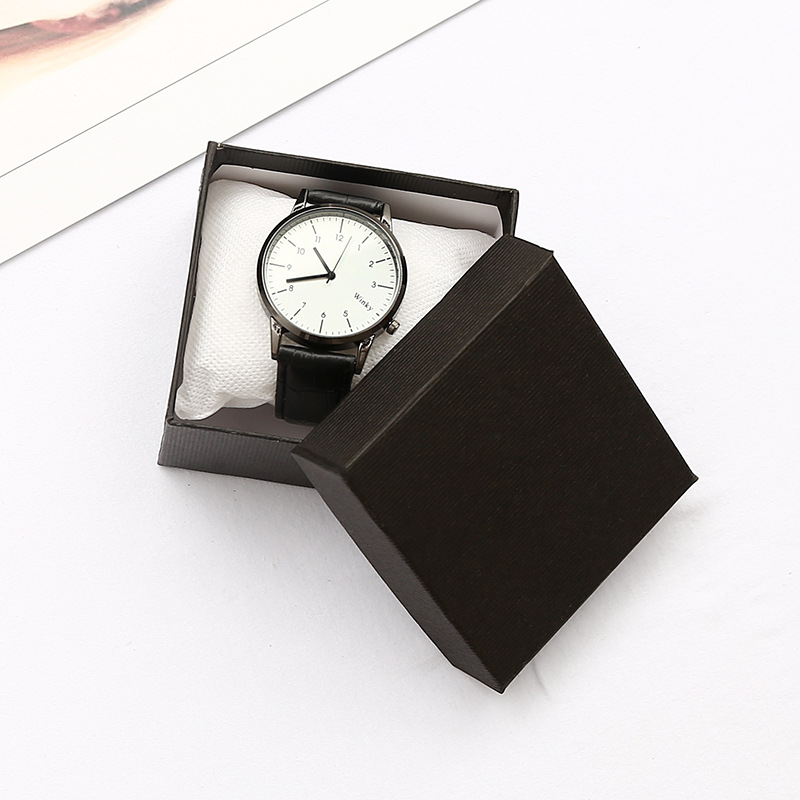 Genuine KZfashion watch box / decorative box 8*8*5.5cm high quality black watch box 2018 new black out watch box