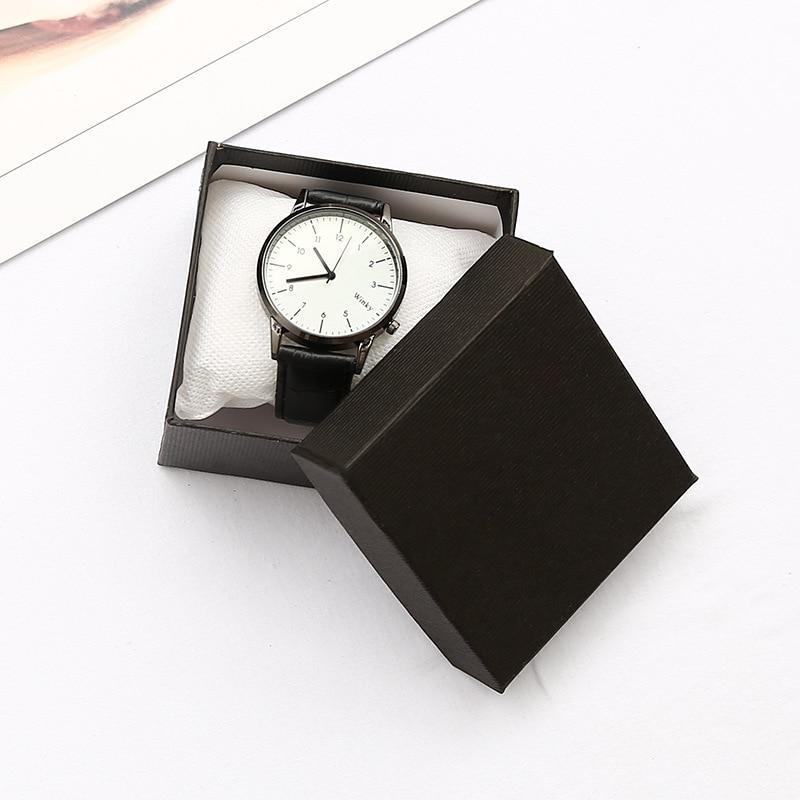 Genuine KZfashion watch box / decorative box 8*8*5.5cm high quality black watch box 2018 new black box 74082