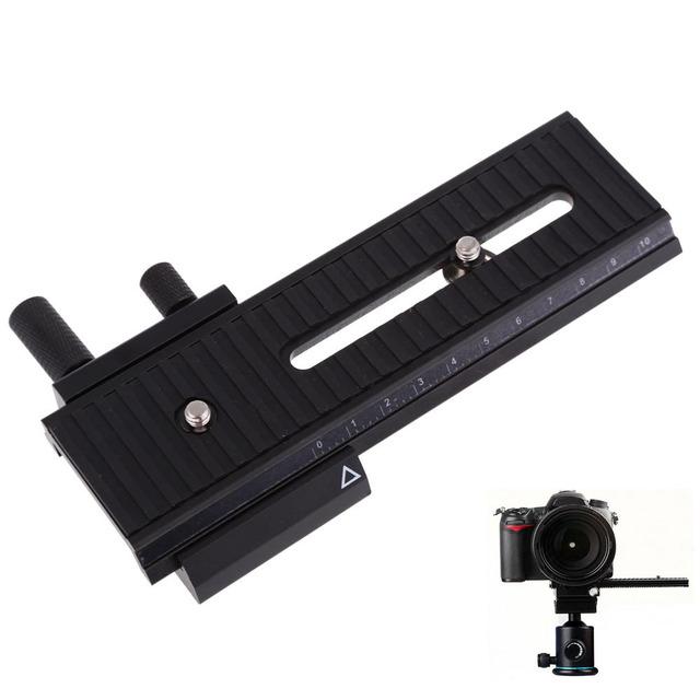 """Alumium aleación 1/4 """"10 cm macro shot enfocarse enfocar carril deslizante para cámara canon nikon sony dslr"""
