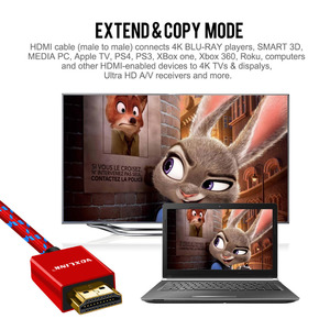 Image 4 - VOXLINK HDMI Kabel 3FT/6FT/10FT Ultra High Speed Stecker auf HDMI Kabel mit Ethernet 1080P HDMI 1,4 4K 3D für PS3 BLURAY XBOX