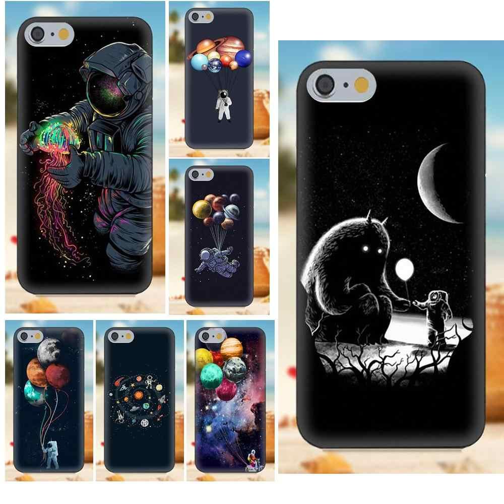 Пространства надувной космонавт для iPhone 4S 5S 5C SE 6 S 7 8 Plus iPhone X Galaxy Note 5 6 8 S9 + большое ядро рrime alрha прозрачный мягкий чехол