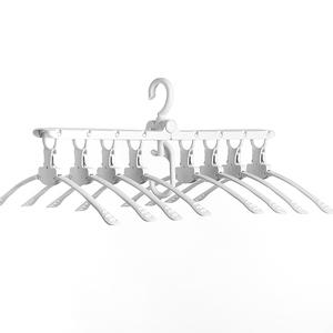Image 3 - [8 Fish Bones]VOZRO Foldable Clothes Cloth Hanger Dryer Drying Clothing Rack Hangers For Tumble Hanging Laundry Stand Telescopic