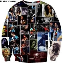 PLstar Cosmos Bob Marley 3D Reggae Star Printed Hoody Hoodie Custom Made Clothing Men/Women Streetwear