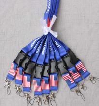 Wholesale TRUMP U.S.A Removable Flag of the United States Key Chains Badge Pendant Party Gift moble phone lanyard