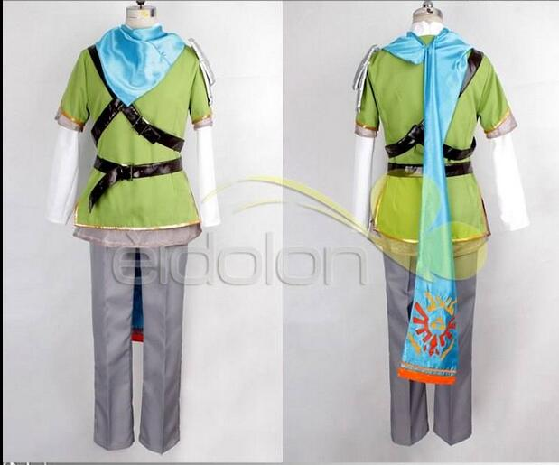 2016 High Quality The Legend of Zelda Ocarina of Time Link Cosplay Costume CarnavalHalloween Adult Costumes for Women Men Custom-in Anime Costumes from ... & 2016 High Quality The Legend of Zelda Ocarina of Time Link Cosplay ...