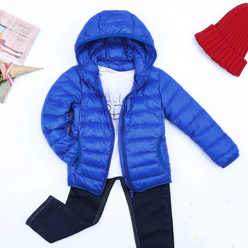 3-14Y ultra-light boy with cotton girl down white park 90% down winter warm child jacket big boy girl clothes L03