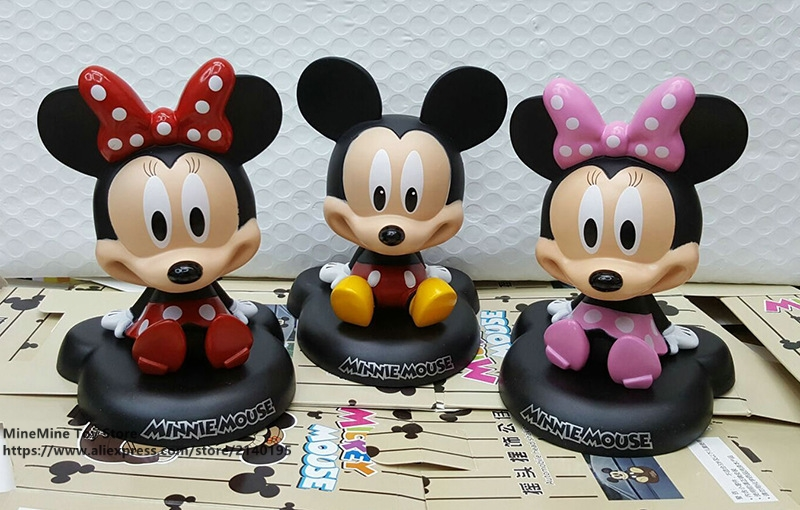 ZXZ Mickey Mouse Minnie 3 style 10cm Action Figure Posture Anime Decoration Collection Figurine Toy model for children gift