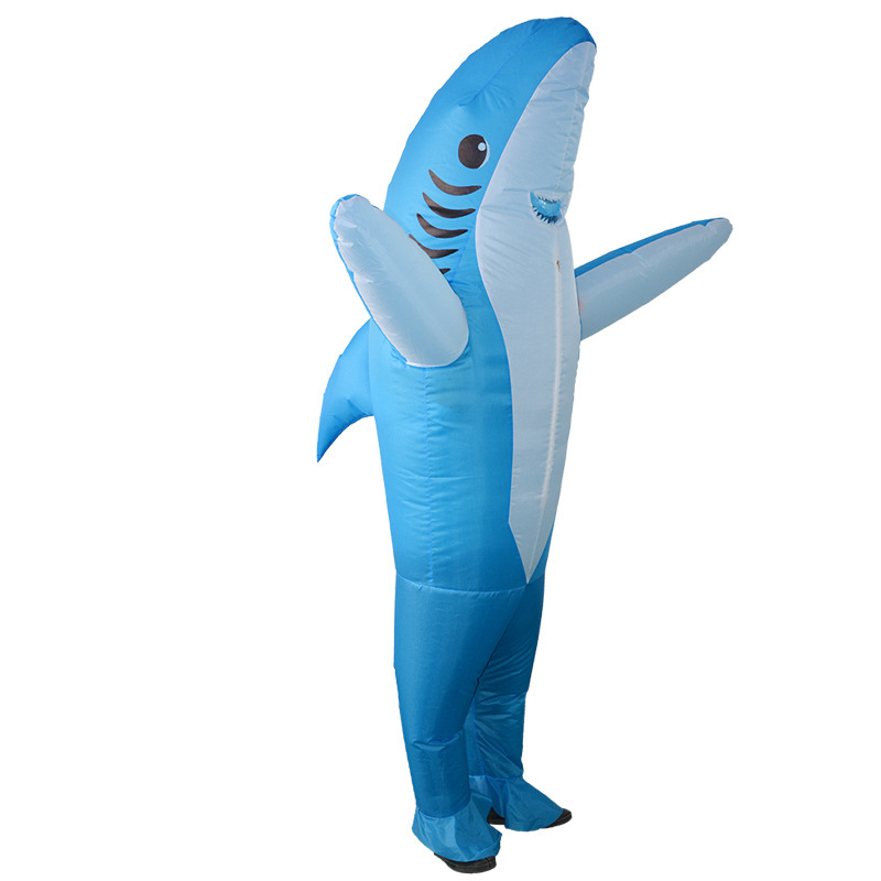 Halloween Perform Costume Unisex Adult Fancy Animal Cosplay Outfits Women Men Inflatable Shark Christmas Carnaval Costumes
