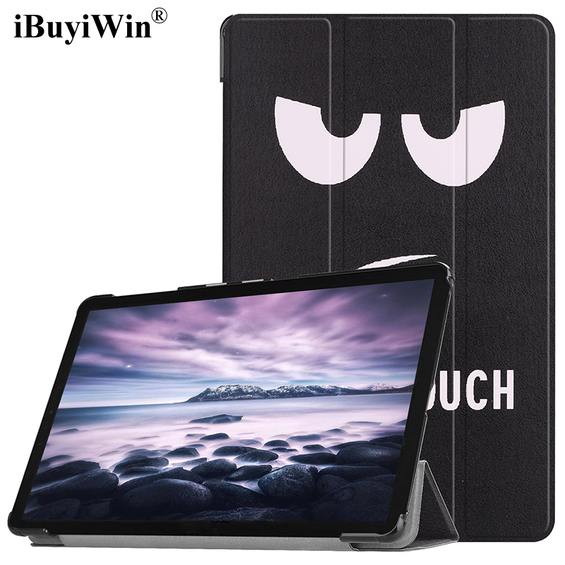 Ultra Slim Stand Case for Samsung Galaxy Tab A A2 10.5 2018 T590 T595 SM-T590 SM-T595 Smart Cover with Auto Sleep Wake+Film+Pen ultra thin slim magnetic luxury folio stand leather case sleep smart sleeve cover for samsung galaxy tab pro s w700 sm w700 12