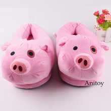 Anime Plush Toy Gravity Falls Waddles Plush Slippers Pink Pig Winter Indoor Shoes Comfy Slipper 28cm