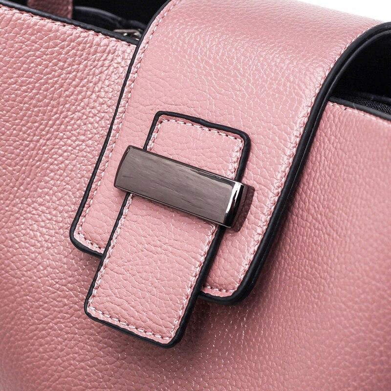 couro para mulheres balde de Color : Black, gray, blue, pink