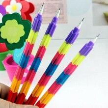 20pcs /Lot Building Block Pencils Creative Stationery Pencil Kid Children School Office Supplies Prize Gift pencils Papelaria
