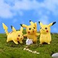 (6 шт./лот) прекрасный Пикачу Кукла Микро мох пейзаж игрушка игрушка Симпатичные Pocket Monster Японского аниме Действие и Игрушки Фигурки PY171