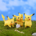 (6pcs/lot) Lovely Pikachu Doll Micro moss  landscape toy toy Cute Pocket Monster Japanese anime Action & Toy Figures PY171