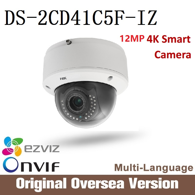 HIKVISION  DS-2CD41C5F-IZ original English version 12MP Ip Camera Poe Infrared Night Onvif Cmos support upgrade CCTV security hikvision ds 2cd2042wd i original english version 4mp ip camera support ezviz upgrade poe infrared 30m outdoor waterproof