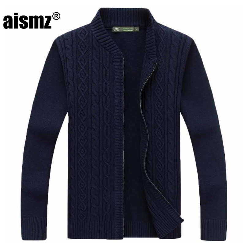 Aismz Cardigan Sweater Men Clothes 2018 Pull Homme Sueter Hombre Slim Men s Autumn Winter Fashion