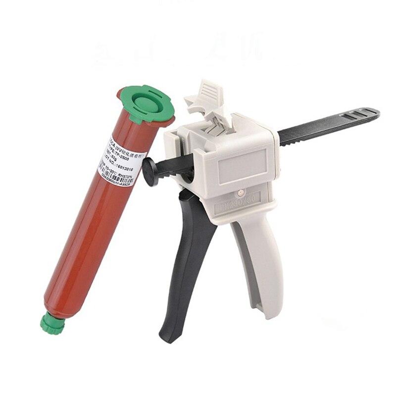 UV Glue Gun LOCA Liquid Optical Clear Adhesive Gun Syringe Injection AB Glue 50ml Style For Mobile LCD Screen Repair