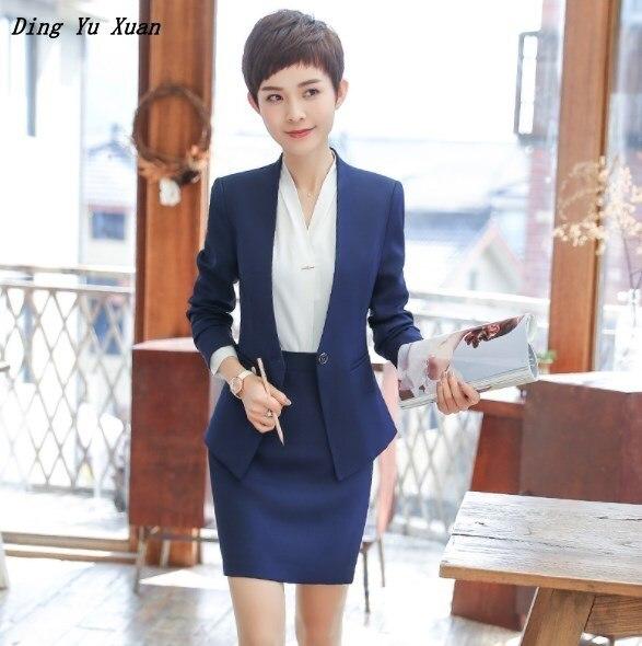 Ladies Office Wear Pants Suits for Women 2 Piece Set Pantsuit Plus Size Formal Trouser Suit Women Career Pantsuit Skirt Suit 4XL