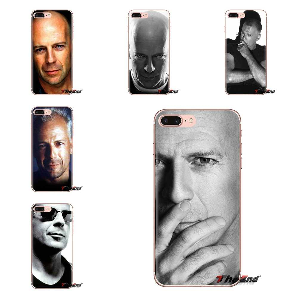 For iPod Touch Apple iPhone 4 4S 5 5S SE 5C 6 6S 7 8 X XR XS Plus MAX Silicone Phone Case Live Free or Die Bruce Willis sexy Man