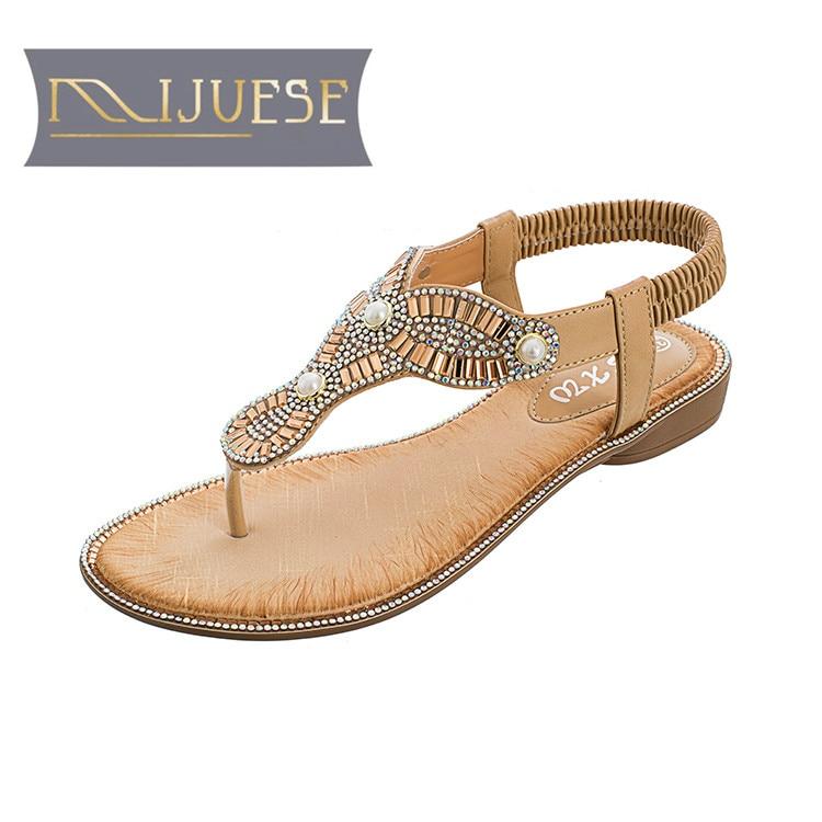 Mljuee 2018 النساء الصنادل الصيفية المشمش - أحذية المرأة