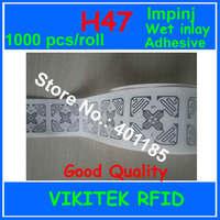 Etiqueta RFID UHF Impinj H47 3D Monza4 Adesiva inlay molhado 1000 pcs 860-960 MHZ 915 M EPC C1G2 ISO18000-6C pode ser usado para a etiqueta de RFID