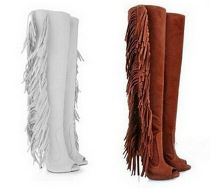 Popular White Leather Fringe Boots-Buy Cheap White Leather Fringe ...