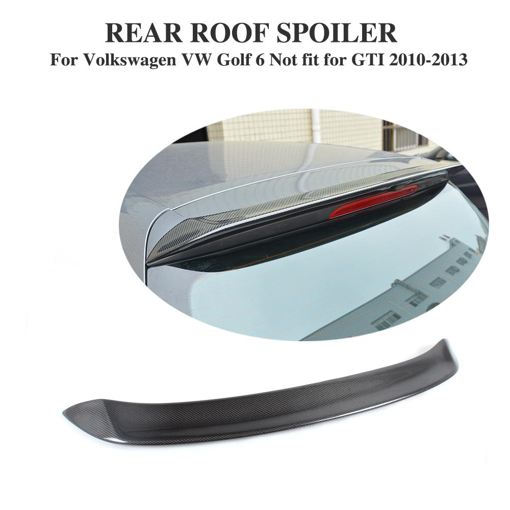 Carbon Fiber Rear Roof Spoiler Wing Lip O Style For Volkswagen VW Golf 6 VI MK6 Standard Non-GTI 2010-2013 Car Tuning Parts колесные диски replica ci45 6 5х17 5х114 3 et46 d67 1 s ci3kit