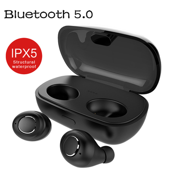 New Bluetooth 5.0 Earphones TWS Wireless True Twins Earbuds Cordless Sports Earphones Handsfree Headsets with Mic Charger Box