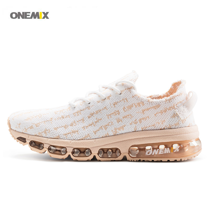 ONEMIX 2017 New Arrive Womens sport running shoes mesh breathable knit vamp design air flexible exercise guide sneakers 1236