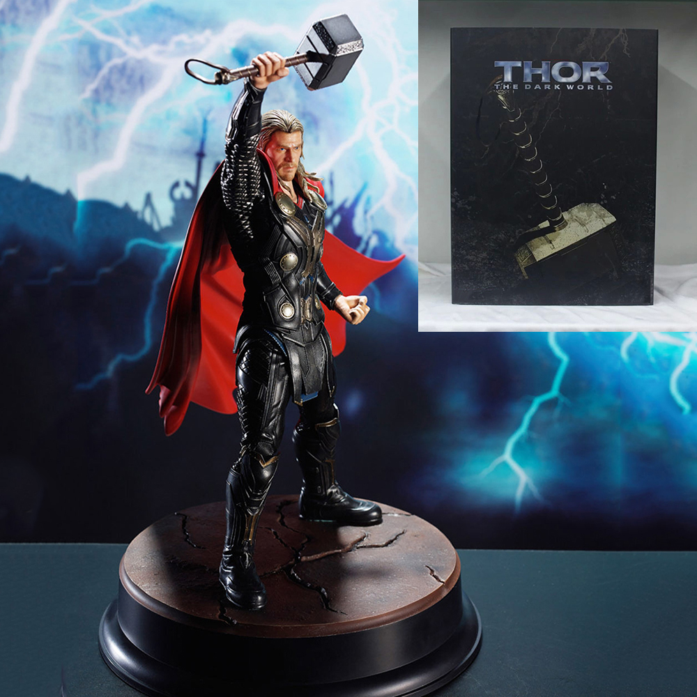 For Collection 1/9 Collectible The Dark World Figure #<font><b>38120</b></font> Statue Thor Hero Action Model Figure Model For Fans Holiday Gifts image