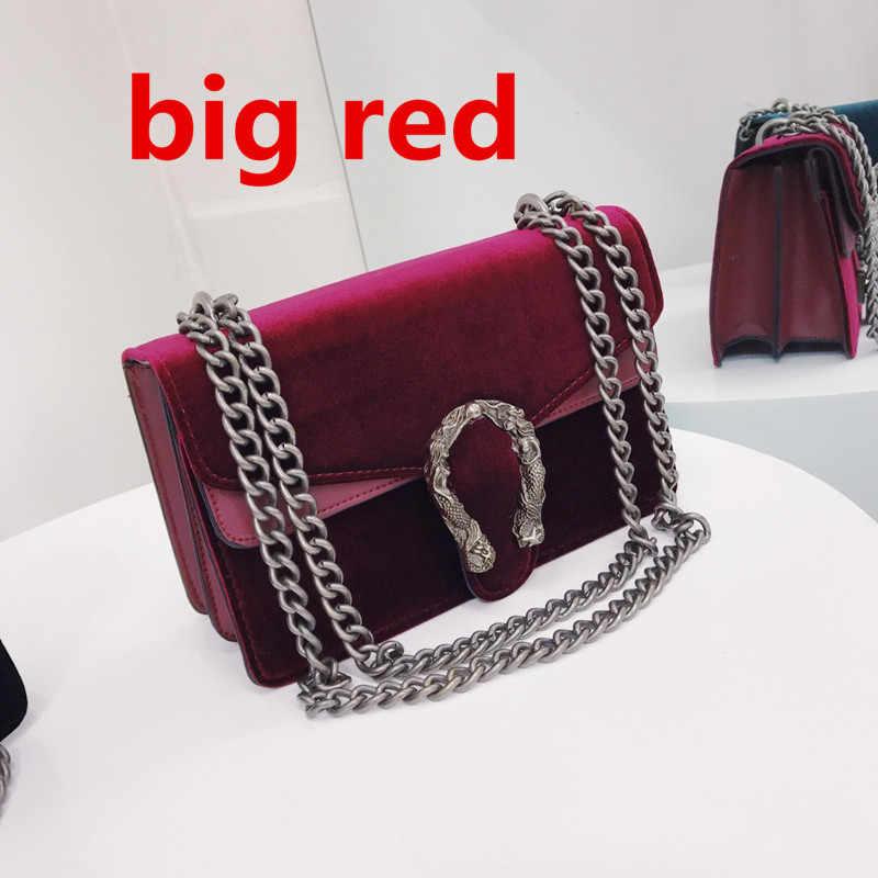 89cf56f0d6ab ... Роскошные брендовые модные бархатные женские сумки через плечо с  цепочкой через плечо знаменитые дизайнерские сумки с ...