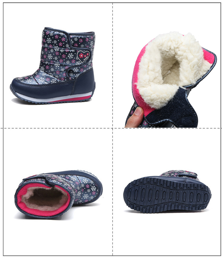 -30 degree Russia Winter Warm Child Snow Boots Shoes Waterproof children's shoes for Kids boots Fashion Baby Girls Boots F332 5