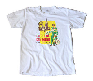 Vintage San Diego California Travel Decal T-Shirt