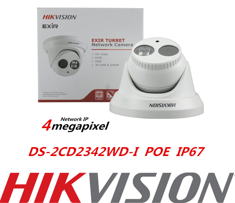Original English Version DS-2CD2342WD-I 4MP Dome IP Camera CCTV POE IP67 mini WDR EXIR Turret Network HIKvision IP Camera hikvision ds 2de7230iw ae english version 2mp 1080p ip camera ptz camera 4 3mm 129mm 30x zoom support ezviz ip66 outdoor poe
