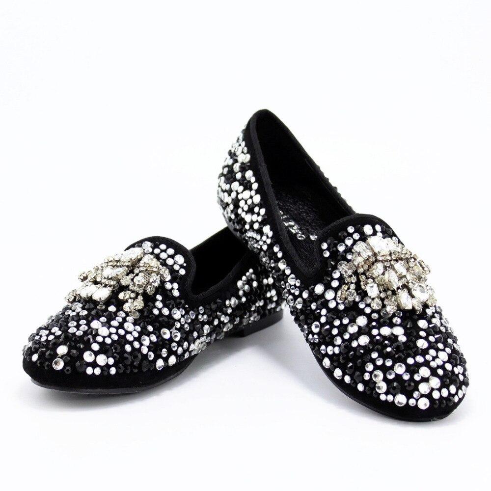 Mujeres De Cristales Tassel Tiro Boda Suede Fumar Rhinestone Planos Partido Slip Negro on Zapatillas Zapatos Mujer Lujo Claro Mocasines Cool 4YWpqq