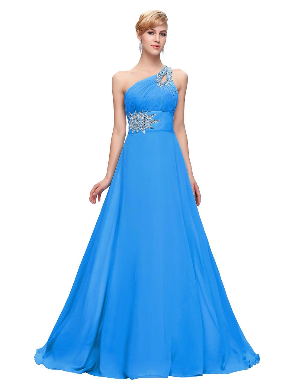Elegant One Shoulder Long Bridesmaid Dress 3