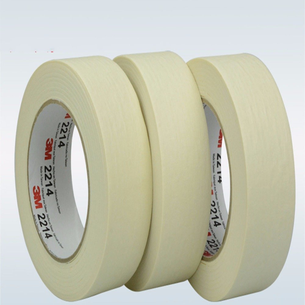 30mmx164ft 3M2214 3M beauty paper tape vehicle paint covering high temperature indentation Strong adhesion electronic industry