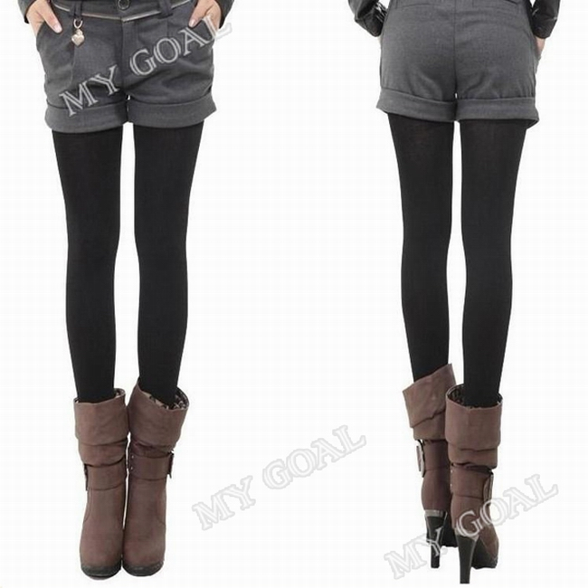 89f42ea897dcf Women Thick Warm Fleece Lined Fur Winter Sexy Tight Pencil Black Leggings  Pants Ship to worldwide with track number. aeProduct.getSubject() aeProduct.