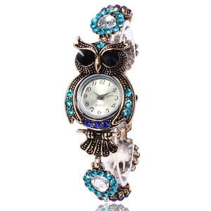 2020 New Brand Owl Women Watches Quartz Watches For Woman Bracelet Register Free Discount Wrist Watch Relogio Feminino #BL5(China)