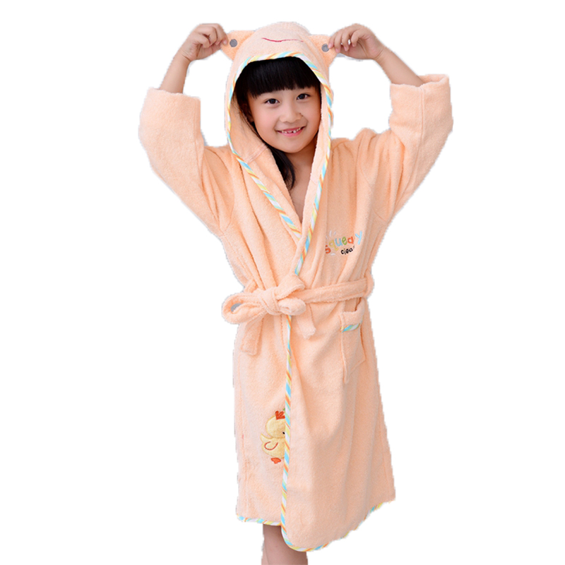 Bathrobe Kids Boys Robe For Children 100% Cotton Warm Lengthen Robe Thicken Hooded Dressing Gown Men Towel Fleece Pajamas Underwear & Sleepwears Men's Sleep & Lounge