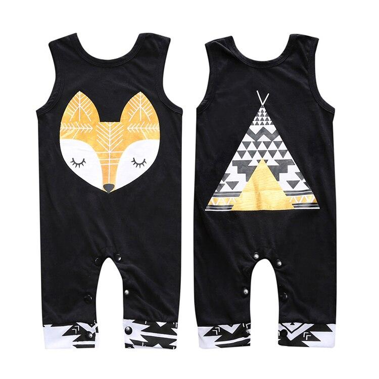 2018 algodón recién nacido bebé niña ropa Sliders mangas Rompers algodón Cute animales ropa Bebe mono SR142