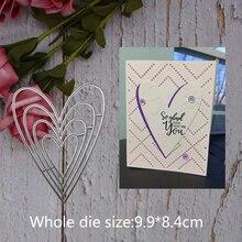 4pcs new love heart Metal steel frames Cutting Dies DIY Scrap booking Photo Album Embossing paper Cards9.9*8.4cm
