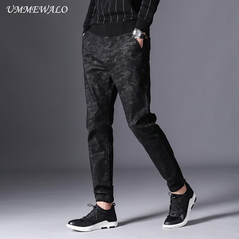 84a69c0480 US $37.29 |UMMEWALO Black Camouflage Skinny Jeans Men Winter Autumn Stretch  Denim Jeans Man Elastic Waist Slim Fit Jean Male Jeans Homme-in Jeans from  ...